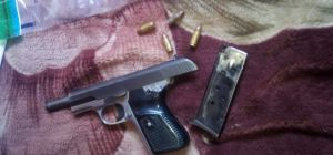 FIREARM AND AMMUNITION RECOVERED