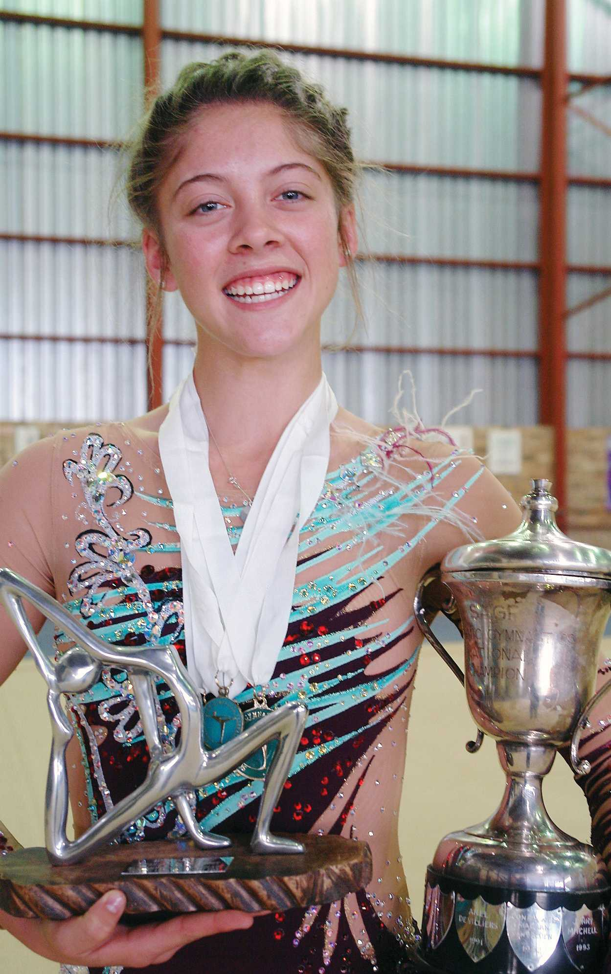 Lilica Burger (15) was awarded as Best Senior Olympic Gymnast and Miss Elegance at the recent National Gym Games.