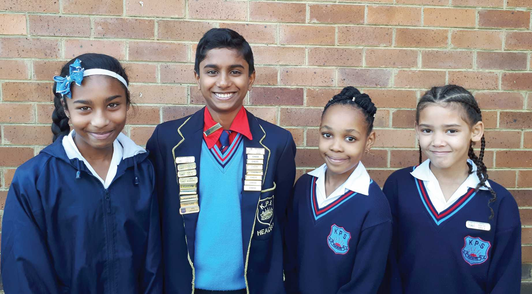 The following learners from Klerksdorp Primary School (KPS) were identified as the best achievers in their respective grades: Grade 5 - Peyton Govender with 91.3%, Grade 7 Asish Mathew with 90.7%, , Grade 6 Kgaogelo Maake with 89.8% and Grade 4 - Kaylah Vers with an average of 91.7%.
