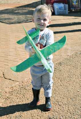 Sion Swart (3) wants to fly someday.