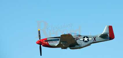 The P-51 Mustang in full flight. This was the first display of the Mustang in Klerksdorp.
