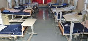 Empty hospital beds due to strike