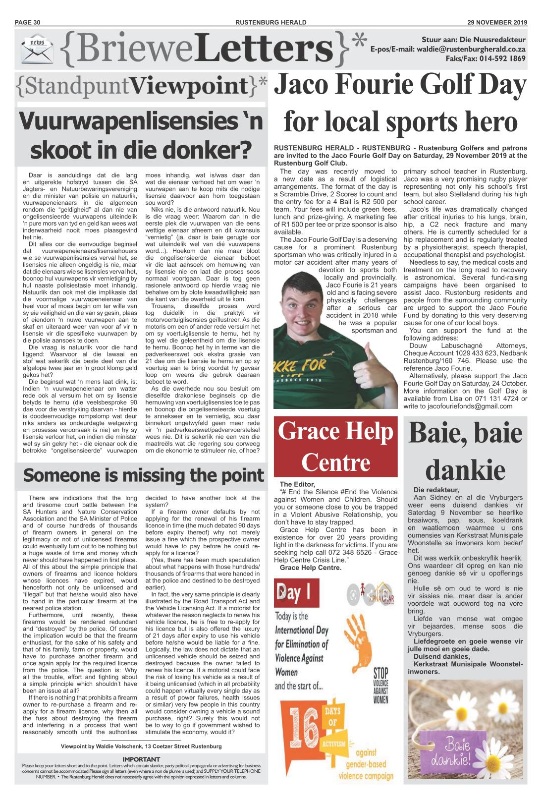 Standpunt / Viewpoint 29 November 2019
