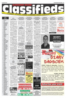 Klerksdorp Record Classifieds